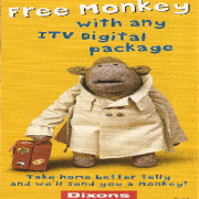 ITV Digital Dixons free monkey 3