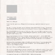 Letter to new subscriber (ONdigital)