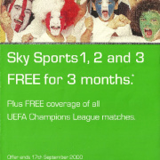 ONdigital Sky Sports offer summer 2000
